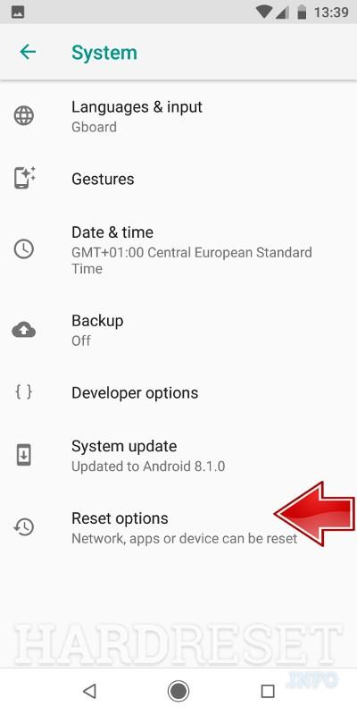 Reset Network Settings XIAOMI Redmi Note 5 - HardReset info