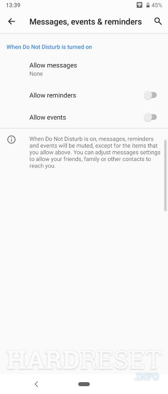 Messages, events & reminders SONY Xperia L3