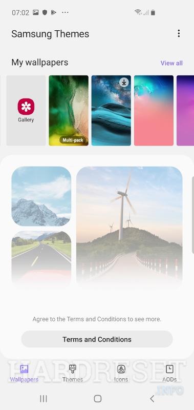 Change Wallpaper SAMSUNG Galaxy A20 - HardReset info