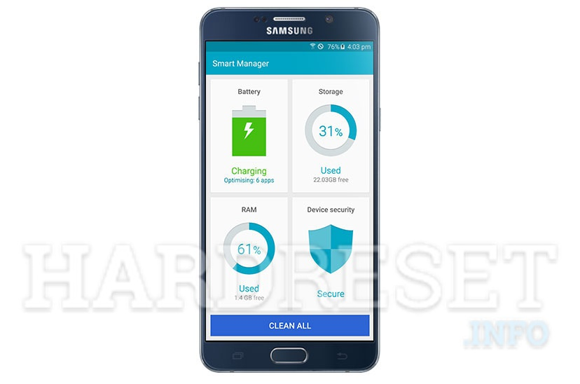 How does the Optimize and Speed Up option work on Samsung phones? - article image on hardreset.info