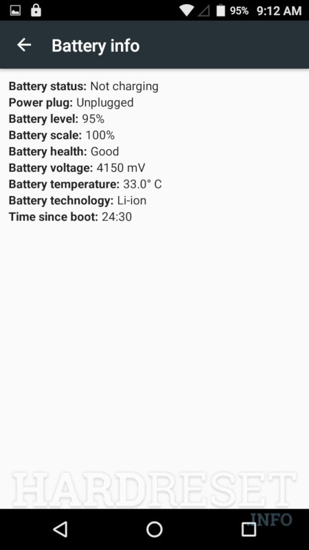 INTEX Aqua 4.0 4G	 Battery info