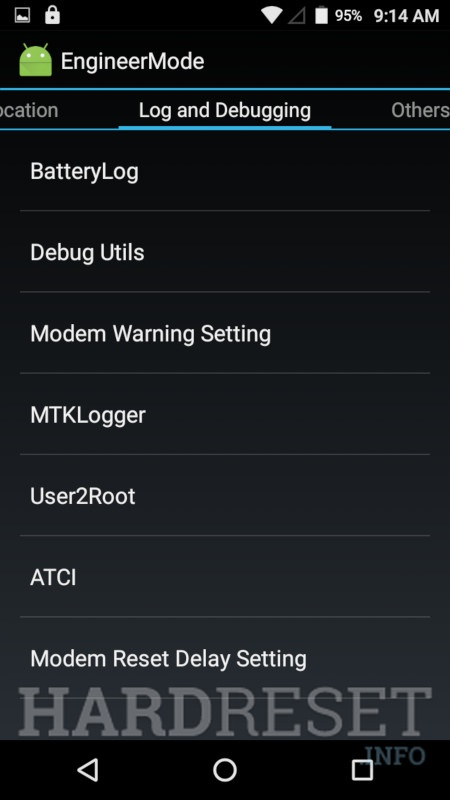 INTEX Aqua 4.0 4G	 Engineer Mode info 5