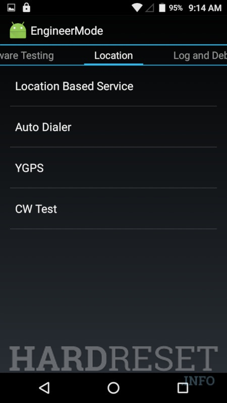 INTEX Aqua 4.0 4G	 Engineer Mode info 4