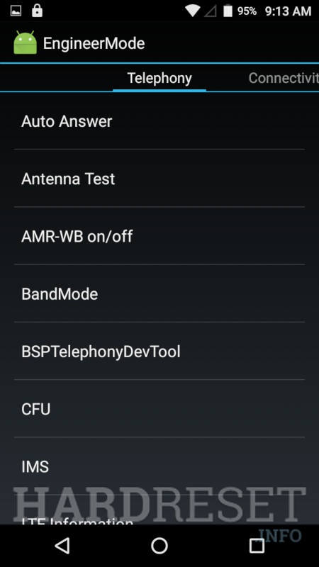 INTEX Aqua 4.0 4G	 Engineer Mode info 1