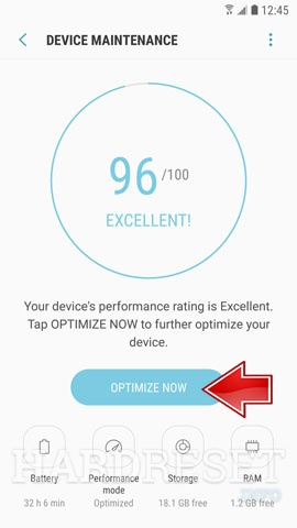 How to perform System Speed Optimization on SAMSUNG Galaxy A20?, how to -  HardReset.info