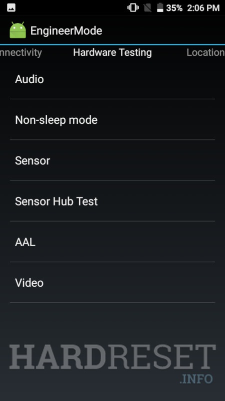PANASONIC Eluga Mark 2 engineer mode 3