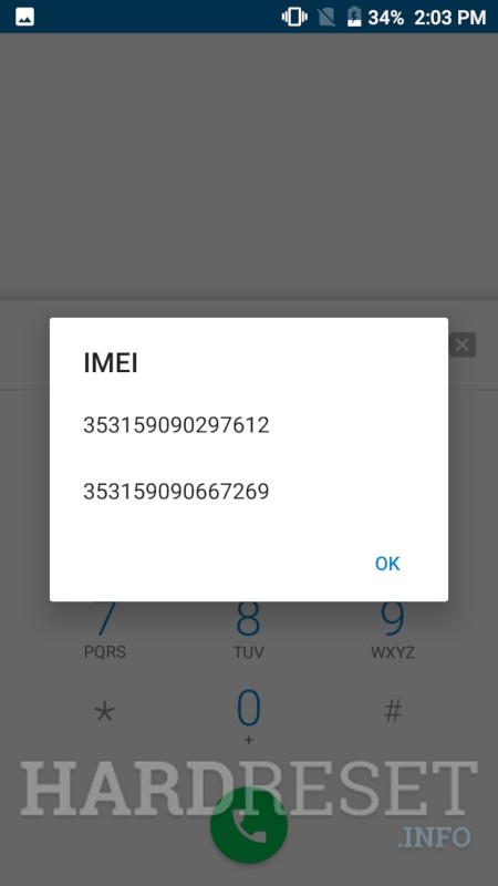 PANASONIC Eluga Mark 2 IMEI