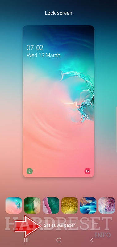Change wallpaper SAMSUNG Galaxy S10 5G Exynos