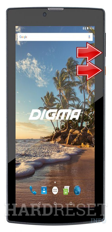 Remove screen password on DIGMA Plane 7552M 3G