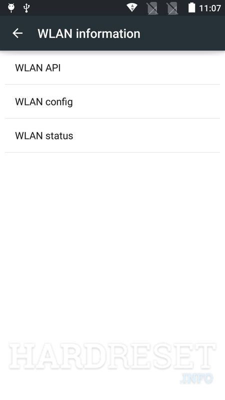 WLAN information OPPO A7n