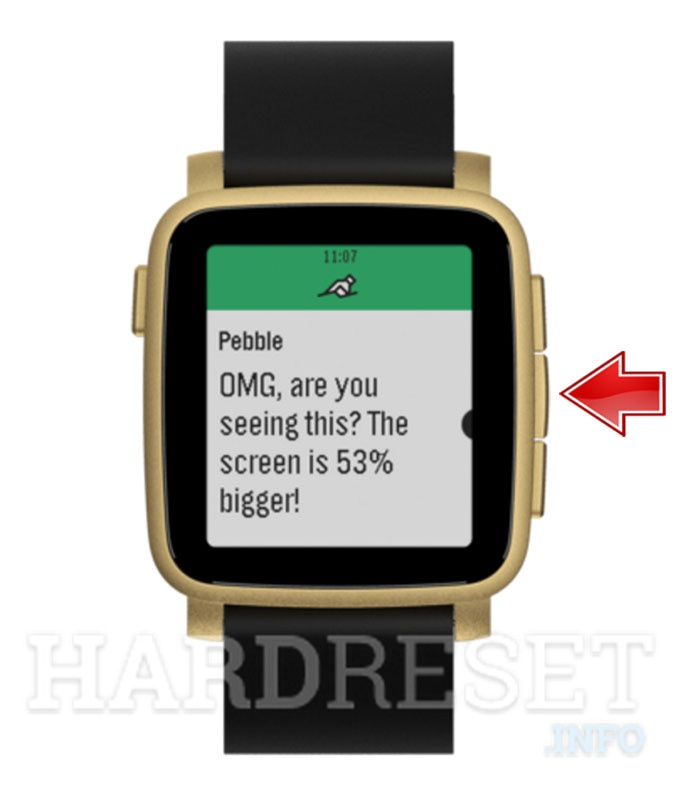 Wipe data on PEBBLE Time 2