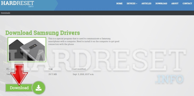 Samsung drivers install procedure, get correct drivers