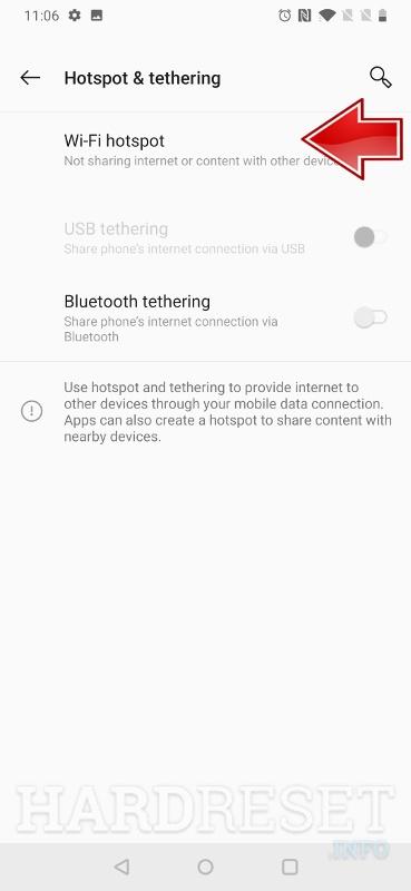 Portable Hotspot OnePlus 6T - HardReset info