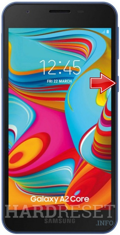 Remove screen password on SAMSUNG Galaxy A2 Core
