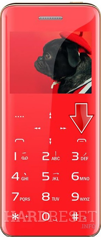 Remove screen password on D.PHONE F2