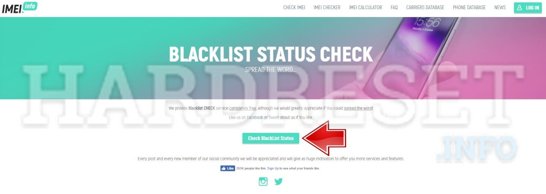 Why should I check the IMEI number in the blacklist