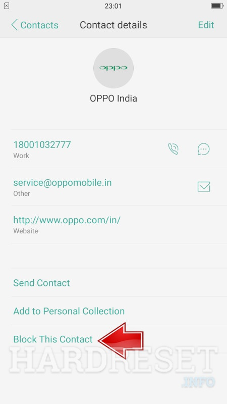 OPPO A37 Block Number