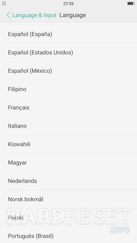 OPPO A37 Change Language