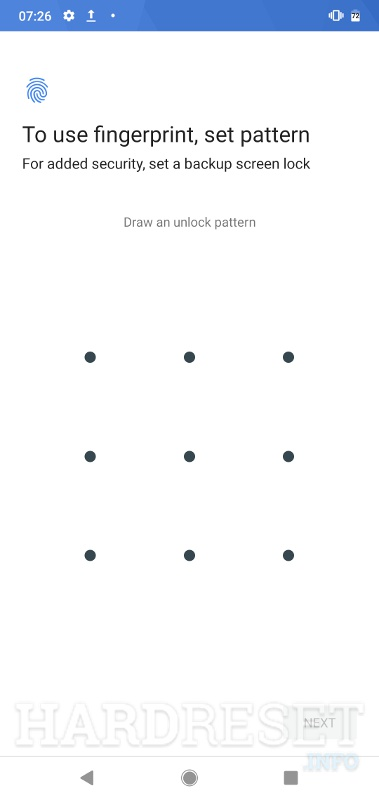 set the pattern NOKIA 3.1 A