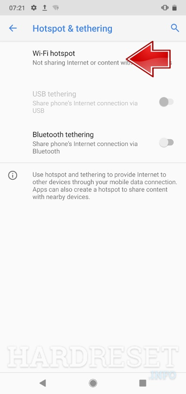 Network & tethering NOKIA 3.1 A