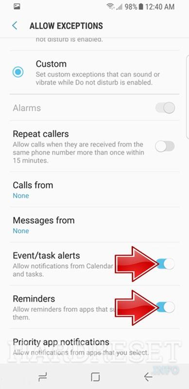 Do Not Disturb Mode SAMSUNG Galaxy On Max - HardReset info