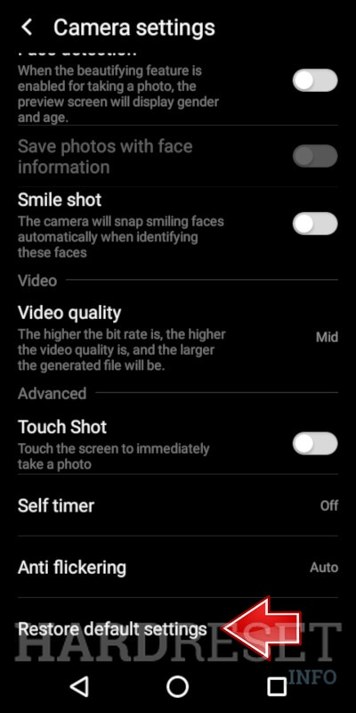 Camera Settings INTEX Aqua Jewel 2