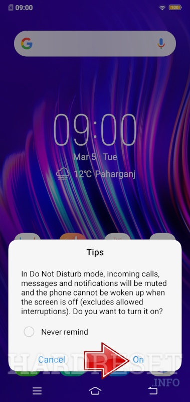 VIVO Z1 Youth Edition Do Not Disturb Mode