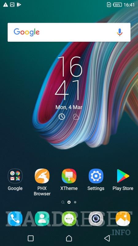 Home screen INFINIX Smart 3