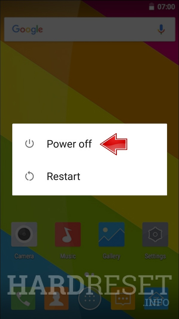 Remove screen password on GINZZU RS96D