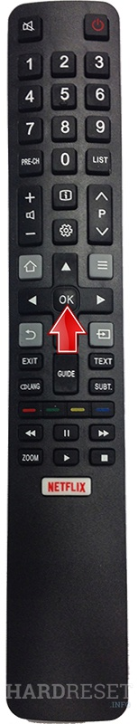 Reset Audio / Video Settings TCL 50EP663 - HardReset info