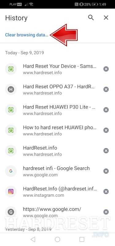 How Do I Delete My Internet History On 3 Fairphone How To Hardreset Info