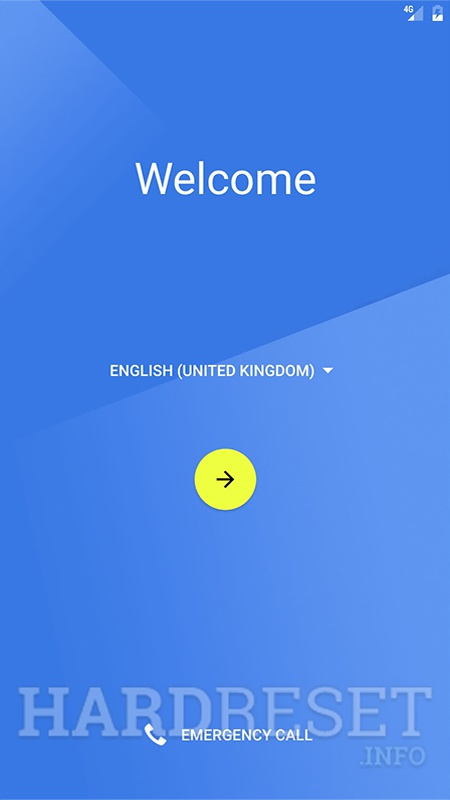WALTON Primo H8 Turbo Welcome screen