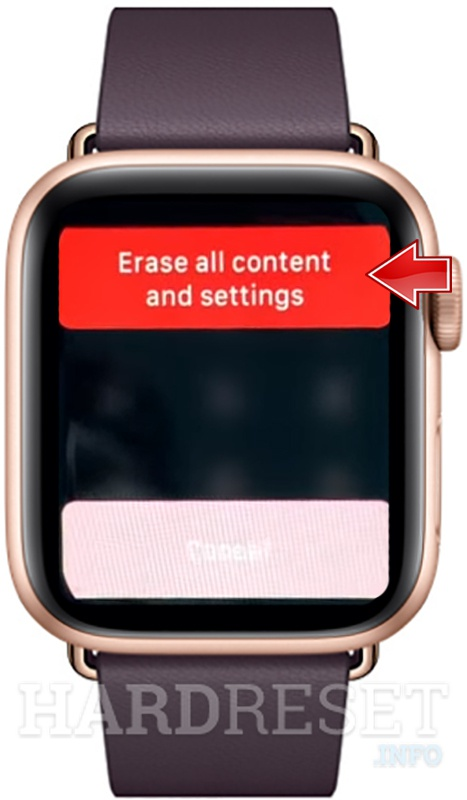 APPLE Watch Series 5 Erase all content and settings