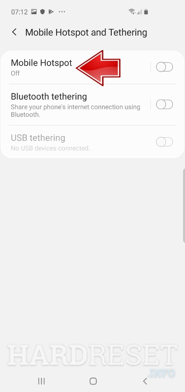 Mobile Hotspot and Tethering SAMSUNG Galaxy M10s