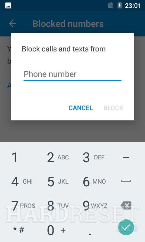 Blocked numbers BLAUPUNKT SL 01