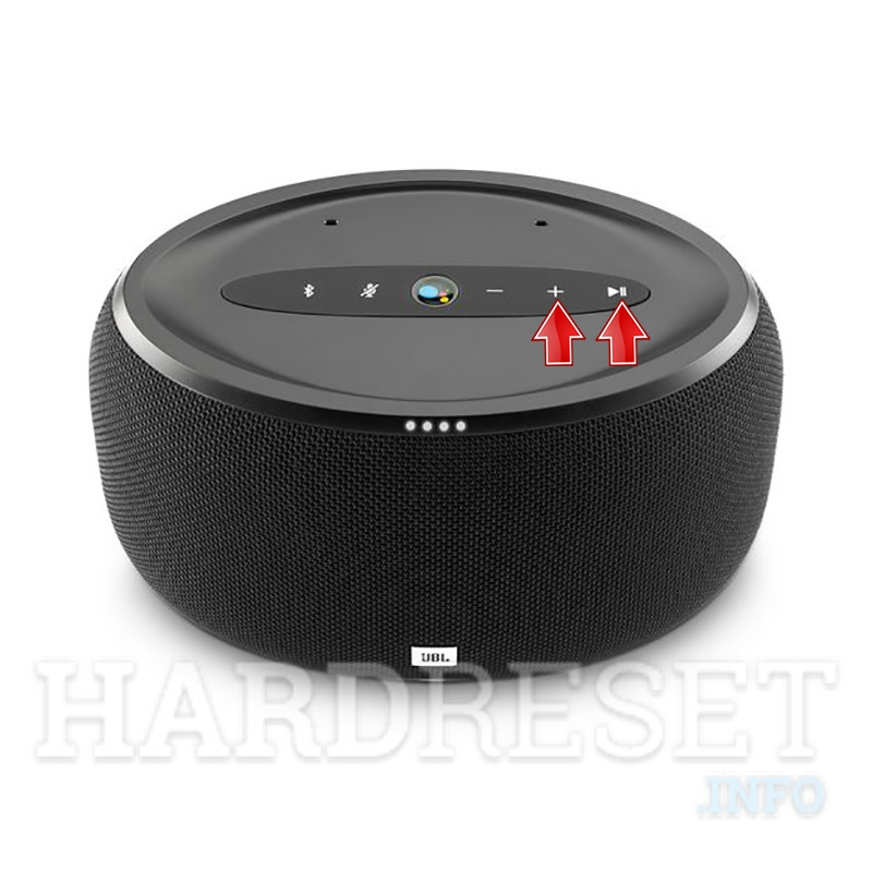 JBL Link 300 Volume up button + Play/Pause button