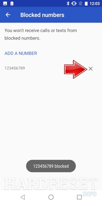 Blocked Numbers OUKITEL U13