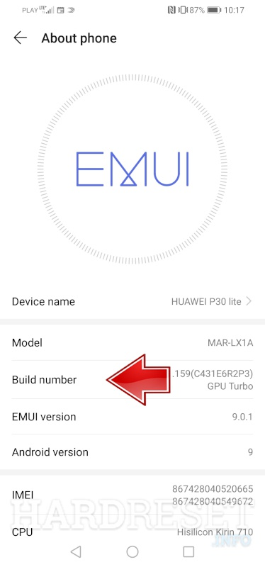 HUAWEI Honor Note 8 Developer Options