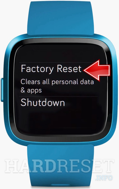 FITBIT FITBIT Factory reset