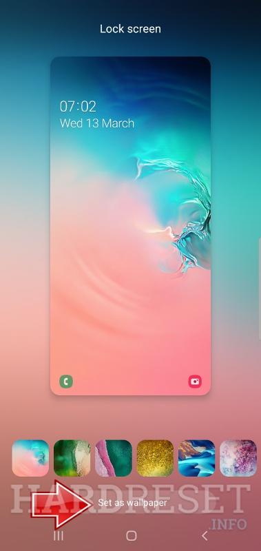 Change Wallpaper Samsung Galaxy S10 Lite How To Hardreset Info
