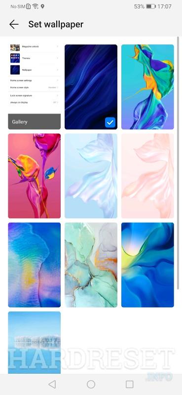 Zmień Tapetę Huawei Mate 20 Pro Pokaż Więcej Hardreset Info
