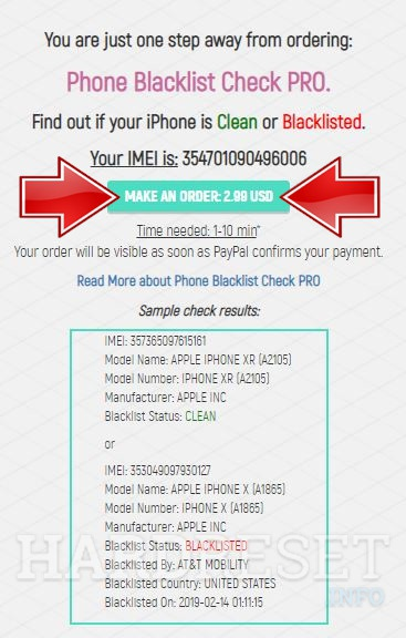 HTC Butterfly 3 Blacklist Check