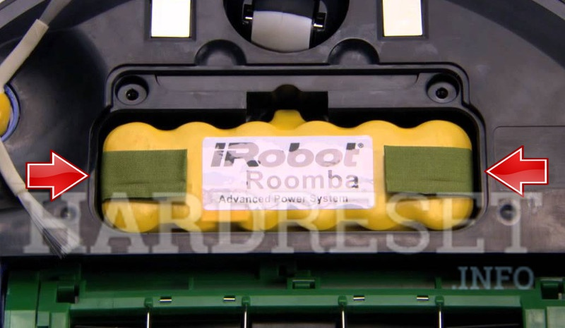 IROBOT Roomba 605 battery pull out