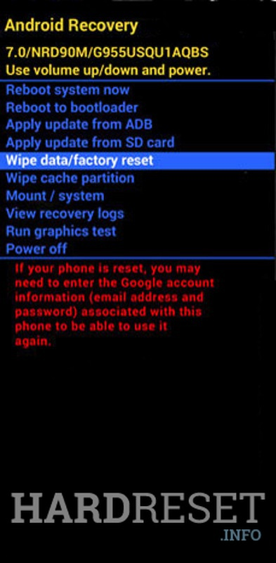 LOGICOM M Bot 551 Recovery wipe data/factory data reset