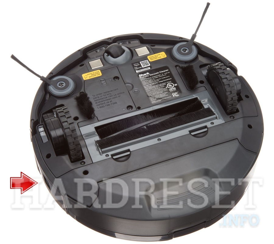 SHARK IQ Robot Vacuum R101AEW power button
