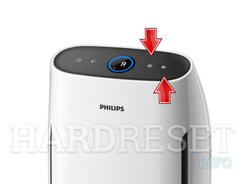 PHILIPS AC1217 power and back button