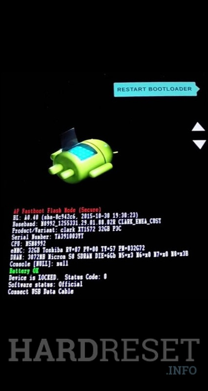 Fastboot Mode MOTOROLA Moto G7 Power