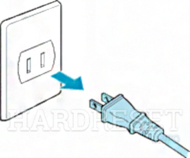 SHARP LC-32CHG4042E Unplug power