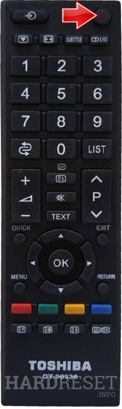 TOSHIBA 43U6763 Remote power button