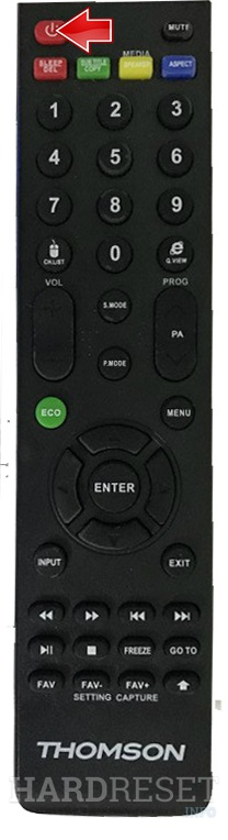 THOMSON 65UD6696 Remote power button